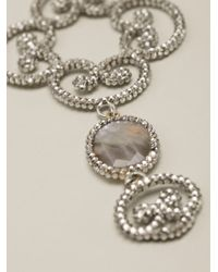 Roni Blanshay - Metallic Baroque Necklace - Lyst