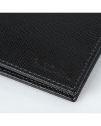Paul Smith - Black And Taupe Saffiano Leather Billfold Wallet for Men - Lyst