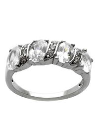 Lord & Taylor | Metallic Silvertone And Cubic Zirconia Ring | Lyst