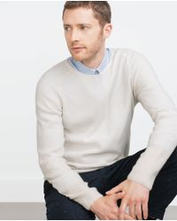 Zara | Natural Rib Knit Cashmere Sweater for Men | Lyst