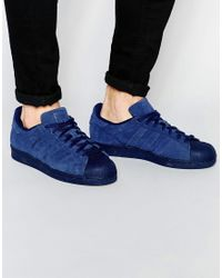 Adidas | Blue Perf Pack Superstar Trainers S79476 for Men | Lyst