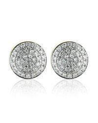 Monica Vinader - Metallic Gold Ava Button Studs - Lyst