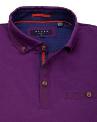 Ted Baker - Purple Grainyo Jersey Cotton Polo Shirt for Men - Lyst