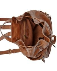 Fossil | Brown Vickery Leather Large Backpack | Lyst