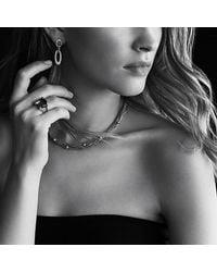 David Yurman - Metallic Cushion On Point Ring With Diamonds In Gold - Lyst