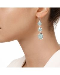 Monica Vinader - Blue Siren Wire Cocktail Earrings - Lyst