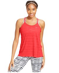 Nike | Pink Dri-fit Cool Breeze Strappy Tank | Lyst