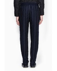 3.1 Phillip Lim - Blue Tapered Lounge Pant With Side Hem Zippers for Men - Lyst