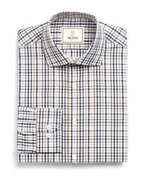 Todd Snyder | Gray Rockaway Dress Shirt In Blue/brown Plaid for Men | Lyst
