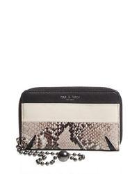 Rag & Bone - Multicolor 'devon' Leather Zip Smartphone Wallet - Lyst