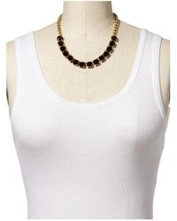 Kate Spade | Black Squared Away Necklace | Lyst