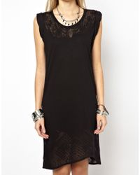 Zadig & Voltaire - Black Zadig and Voltaire Robbie Dress in Burn Out Jersey - Lyst