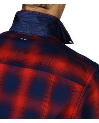 Napapijri | Red Long Sleeve Shirt for Men | Lyst