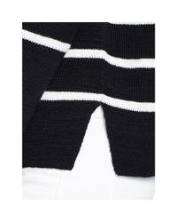 Polo Ralph Lauren - Black Striped Linen-cotton Sweater - Lyst