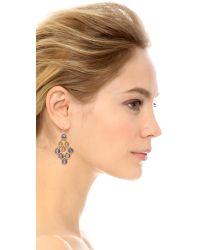 Alexis Bittar - Metallic Scalloped Chandelier Earrings Sodalite - Lyst