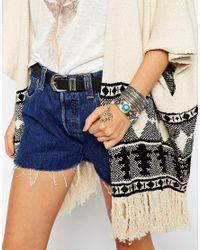 ASOS | Blue Flower & Stone Cuff Bracelet Pack | Lyst