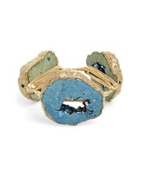 Bourbon and Boweties | Blue Extra Extra Large Stone Bracelet | Lyst