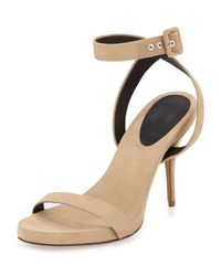 Alexander Wang | Brown Juliana Naked Suede Sandal | Lyst
