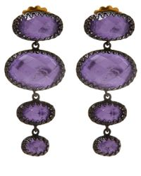 Larkspur & Hawk | Small Purple Tessa Topaz Earrings | Lyst