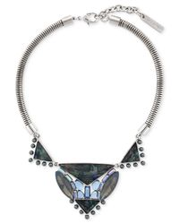 Vince Camuto | Blue Silver-tone Multi-stone Necklace | Lyst