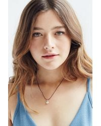 Urban Outfitters | Blue Nel Short Tag Necklace | Lyst