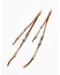 Free People - Brown Ray Of Light Earring - Lyst