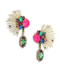 Erickson Beamon | Multicolor Telepathic Crystal Marquis Spray Drop Earrings | Lyst