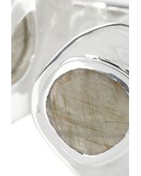 Monica Vinader - Metallic Siren Sterling Silver Labradorite Cuff - Lyst