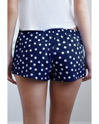 Forever 21 | Blue Polka Dot Pj Shorts You've Been Added To The Waitlist | Lyst