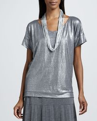 Eileen Fisher - Drapey Metallic Necklace - Lyst
