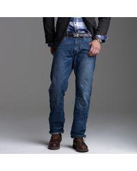 J.Crew - Blue Bootcut-fit Jean In Medium Worn Wash for Men - Lyst