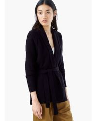 Mango | Black Cotton-blend Cardigan | Lyst