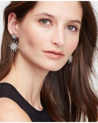Ann Taylor | Metallic Starburst Chandelier Earrings | Lyst