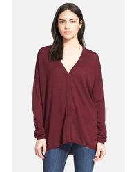 Vince - Red Superwash Colorblock Sweater - Lyst