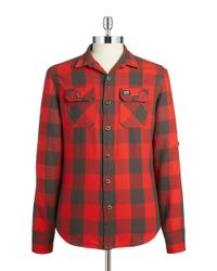 Superdry | Green Plaid Cotton Sportshirt for Men | Lyst