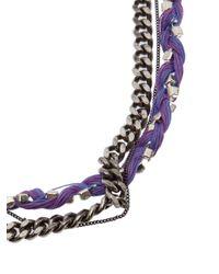 Venessa Arizaga | Purple Mixed Chain Necklace | Lyst