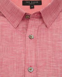 Ted Baker | Red Linen Shirt for Men | Lyst