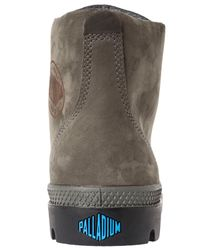 Palladium - Gray The Pampa Hi Leather Gusset Boot for Men - Lyst