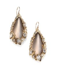 Alexis Bittar | Metallic Imperial Lucite & Crystal Lace Teardrop Earrings | Lyst
