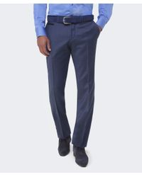 BOSS - Blue Wilhelm Wool Trousers for Men - Lyst