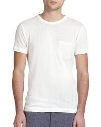 YMC - White Mesh T-shirt for Men - Lyst