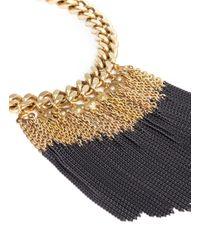 Ela Stone | Metallic Anita Chain Fringe Plastron Necklace | Lyst