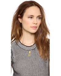 Kate Spade | Metallic Letter Pendant Necklace - N | Lyst