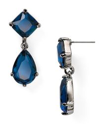 Ralph Lauren | Blue Lauren Faceted Double Drop Earrings | Lyst