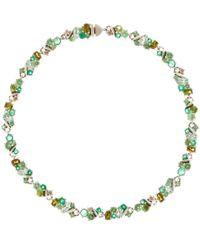 Alexis Bittar Fine | Metallic Silver Brown Diamond Tennis Bracelet | Lyst