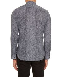 Maison Margiela - Blue Herringbone-print Cotton Shirt for Men - Lyst