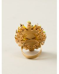 Shourouk - Yellow Lady Cocktail Ring - Lyst