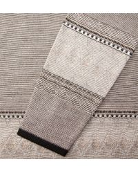 Onassis Clothing | Natural Jacquard Crew Neck for Men | Lyst