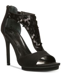 Carlos By Carlos Santana | Black Sonora Sequined Sandals | Lyst