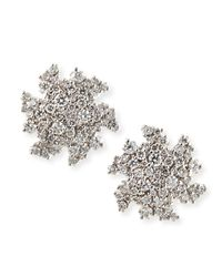 Paul Morelli - Metallic 18K White Gold Confetti Diamond Confetti Stud Earrings - Lyst